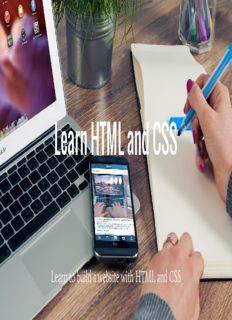 Learn HTML and CSS: Learn to build a website with HTML and CSS