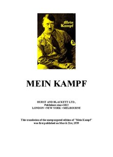 Mein Kampf in English (PDF). - The Mein Kampf Project at