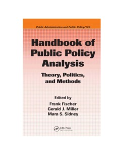 Handbook of Public Policy Analysis: Theory, Politics, and Methods