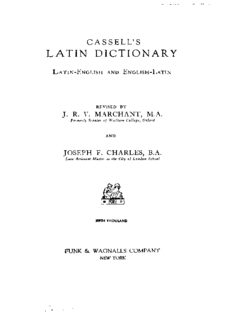 Cassell's Latin Dictionary : Latin-English and English-Latin
