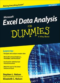 Microsoft Excel Data Analysis For Dummies (3rd Ed.) - Wiley