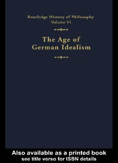 Routledge History of Philosophy Volume VI