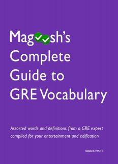 GRE Vocabulary eBook