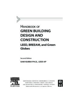 Handbook of Green Building Design and Construction. LEED, BREEAM, and Green Globes