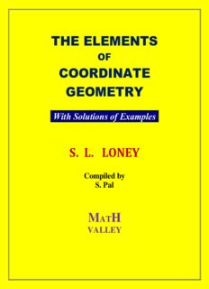 S L Loney s  Coordinate Geometry with Solutions of Examples Math Valley