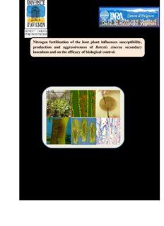 Nitrogen fertilization of the host plant influences trytis Manzoor Ali ABRO