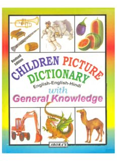 Children Picture Dictionary English-English-Hindi with General Knowledge