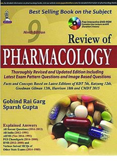 Review of Pharmacology (9th Ed.) - Jaypee Brothers Medical
