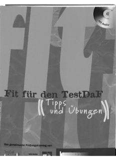 Fit für den TestDaF: Tipps und Übungen. Deutsch als Fremdsprache