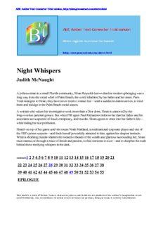 Night Whispers Judith McNaught