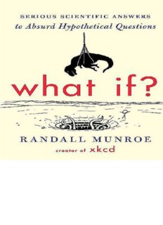 What If; Serious Scientific Answers to Absurd Hypothetical Questions -  Houghton Mifflin Harcourt