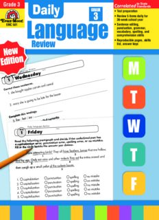 Evan-Moor Educational Publishers. Daily Language Review, Grade 3