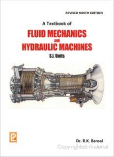 Fluid Mechanics & Hydraulic Machines By R K Bansal 9 Ed.