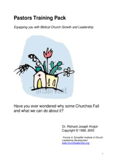 Pastors Training Pack - Church Leadership
