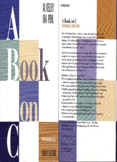 A Book on C Programming in C Fourth Edition AI Kelley / Ira Pohl
