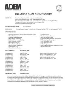 Hazardous Waste Facility Permit, Anniston Army Depot, AL