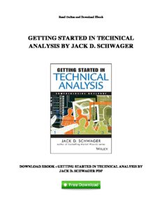 Download Getting Started in Technical Analysis By Jack D. Schwager