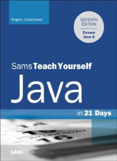 Sams Teach Yourself Java in 21 Days, 7th Edition (Covering Java 8)