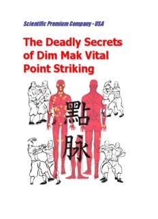 The Deadly Secrets of Dim Mak Vital Point Striking