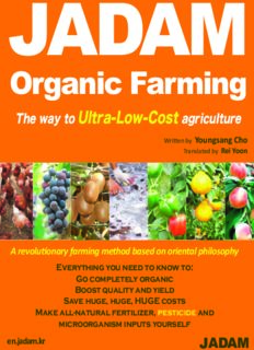 JADAM  Organic Farming: The way to Ultra-Low-Cost agriculture