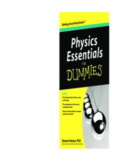 Physics Essentials For Dummies (For Dummies)