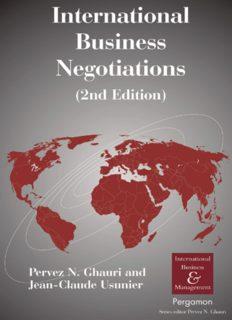 International Business Negotiations, Second Edition (International Business and Management) (International Business and Management Series)
