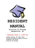 Urology Resident Manual