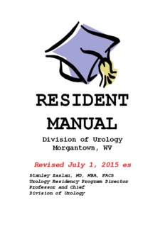 Urology Resident Manual
