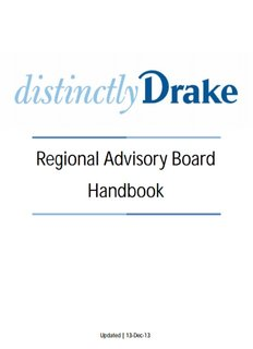 Regional Advisory Board Handbook - Drake Alumni - Drake University