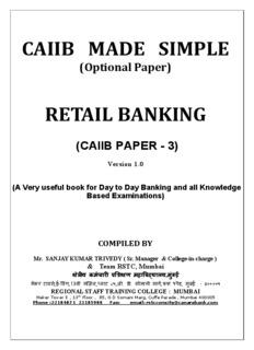 CAIIB PAPER -3 Retail Banking