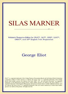 Silas Marner (Webster's Thesaurus Edition)