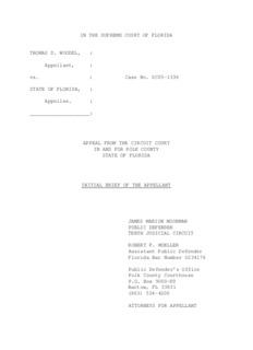 Case No. SC05-1336 STATE OF FLORIDA