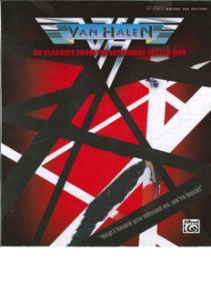 Van Halen: 30 Classics from the Legendary Guitar God (Authentic Guitar TAB) (Authentic Guitar-Tab Editions)