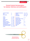 General Surgical Instrumentation for Medical, Veterinary and Lab
