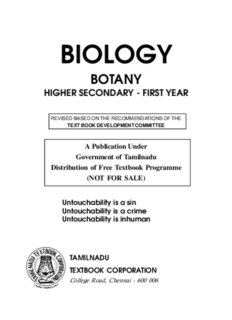 Biology botany higher secondary - first year - Text Books Online