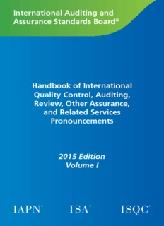 International Auditing and Assurance Standards Board® Handbook of International Quality Control ...