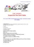 S.W. Erdnase's - Learn Free Magic Tricks