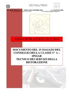 ANNO SCOLASTICO 2013 2014 - Istituto Remo Brindisi