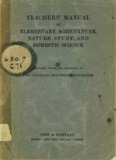 teachers' manual of elementary agriculture, nature study, and domestic science ginn & company