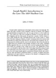Joseph Smith's Introduction to the Law: The 1819 Hurlbut Case