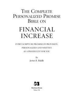 Complete Personalized Promise Bible on Financial Increase: Every Scripture Promise of Provision, from Genesis to Revelation, Personalized and Written As ... Promise Bible) (Personalized Promise Bible)