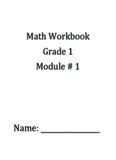 Math Workbook Grade 1 Module
