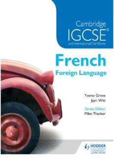 Cambridge IGCSE & International Certificate French Foreign Language (French Edition)