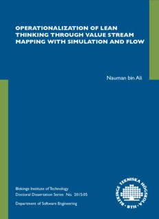 Operationalization of Lean Thinking through Value Stream Mapping with Simulation and FLOW