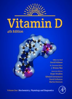 Vitamin D: Volume 1: Biochemistry, Physiology and Diagnostics