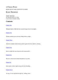 Eldon Thompson - The Legend of Asahiel 01 - The Crimson Sword