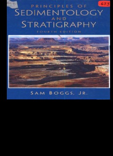 Principles of Sedimentology and Stratigraphy by Sam Jr. Boggs