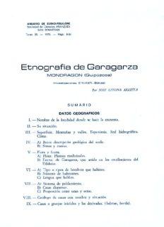 Etnografía de Garagarza