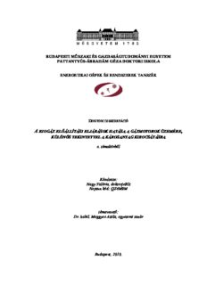budapesti mőszaki és gazdaságtudományi egyetem pattantyús-ábrahám géza doktori iskola