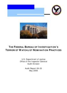 The FBI's Terrorist Watchlist Nomination Process